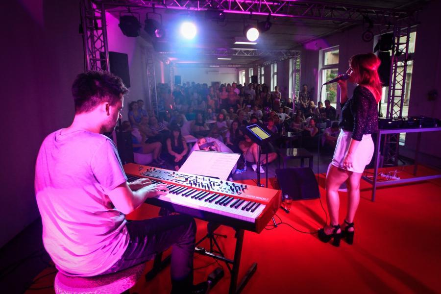 Kasia Dereń i Piotr Walicki na scenie