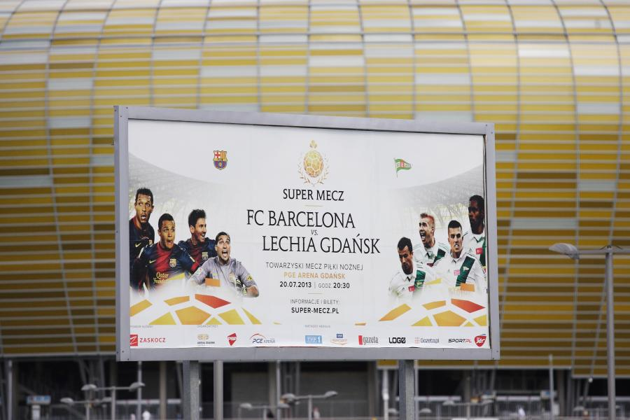Mecz Lechia Gdańsk - FC Barcelona odwołany
