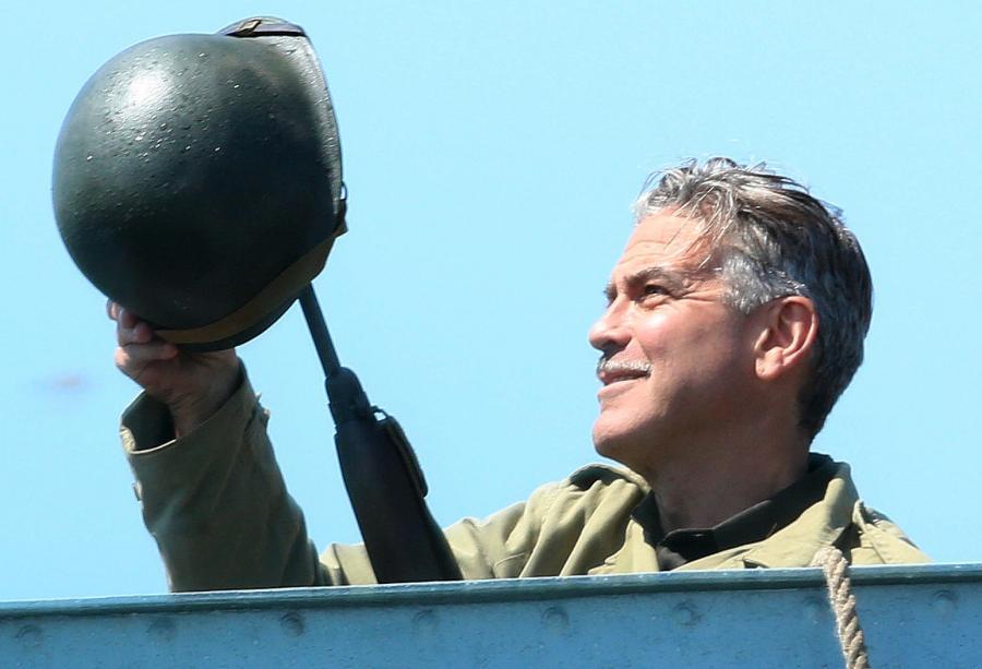 George Clooney na planie \