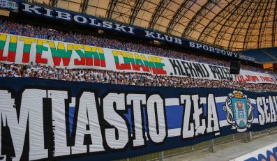 Transparenty na meczu Lech Poznań - Żalgiris Wilno