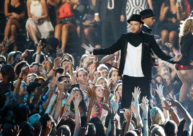 Justin Timberlake na gali MTV Video Music Awards 2013
