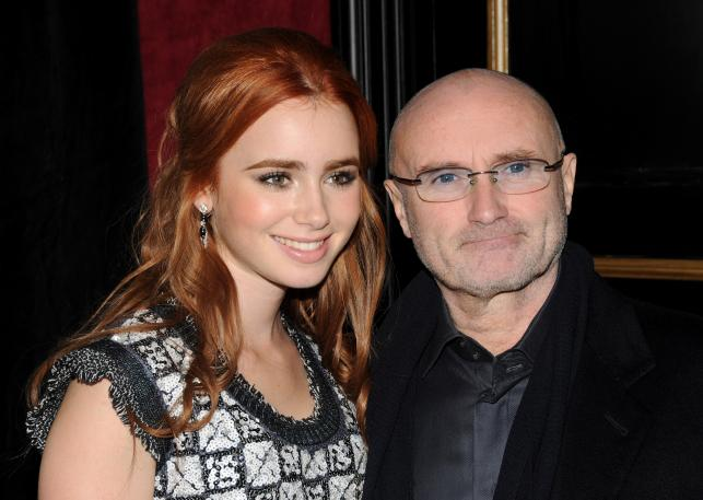 Phil Collins z córką Lily Collins