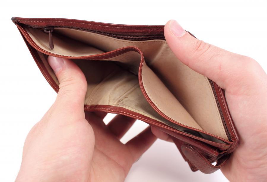 Pusty portfel - zdjęcie ilustracyjne
