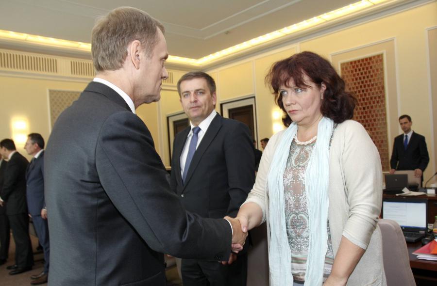 Premier Donald Tusk i minister Barbara Kudrycka