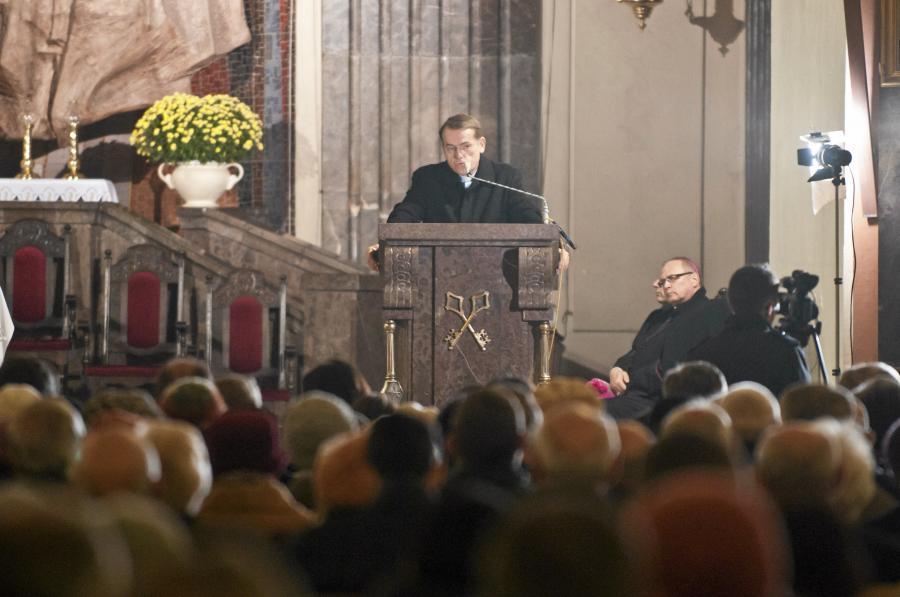 ks. Dariusz Oko podczas I Kujawsko-Pomorskiego Kongresu Katolików