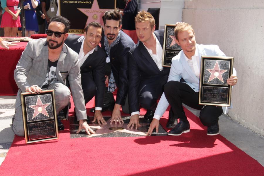 The Backstreet Boys w Aleji Gwiazd w Hollywood –kwiecień 2013 roku