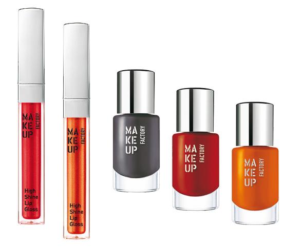 Nowa linia kosmetyków Make up Faktory Grey, Red & Orange
