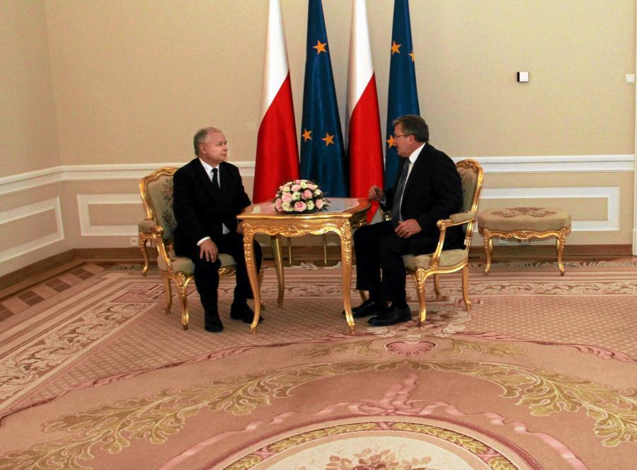Jarosław Kaczyński i Bronisław Komorowski