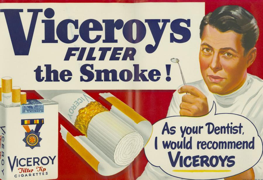 "Papierosy ""Viceroy"", rok 1949"