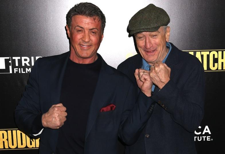 Sylvester Stallone i Robert De Niro na premierze \