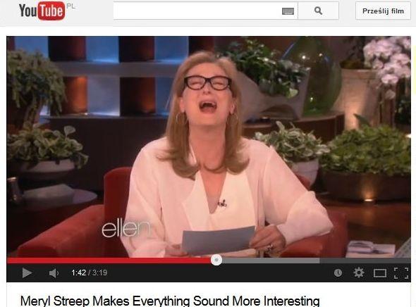 Meryl Streep w programie Ellen Degeneres