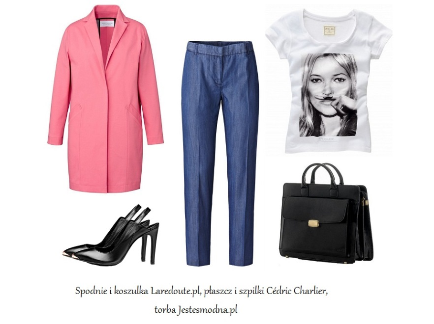 Jeansowe akcenty w stylizacjach na wiosnę 2014