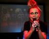 Dorota Masłowska podczas koncertu w Barze Studio w Warszawie