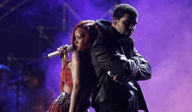 Rihanna i Drake podczas występu na gali Grammy