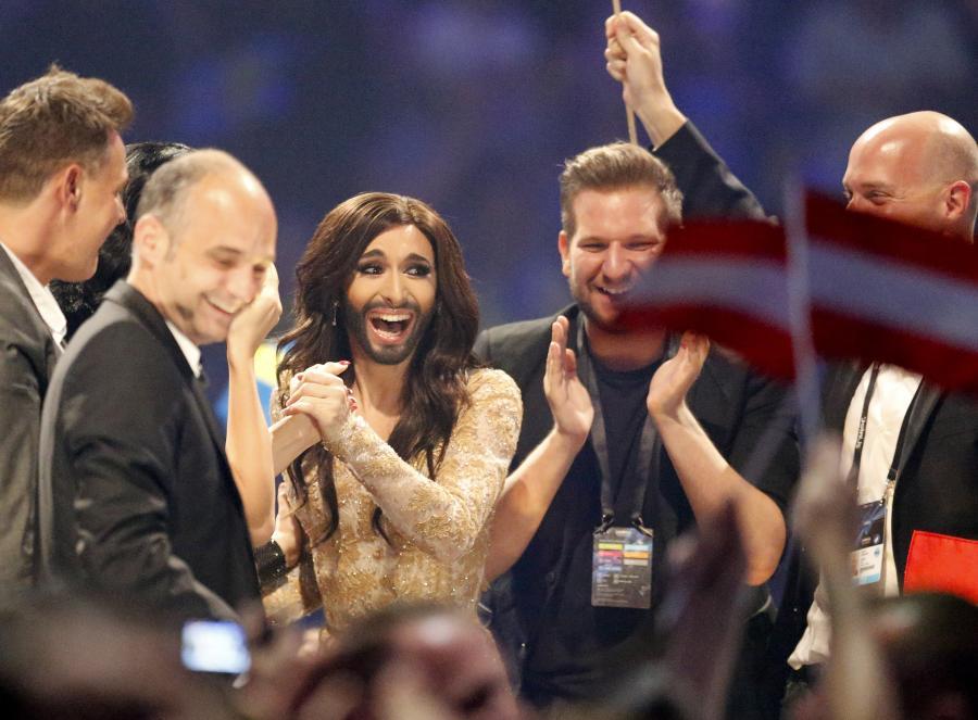 Conchita Wurst z Austrii, zwyciężczyni kokursu Eurowizji 2014