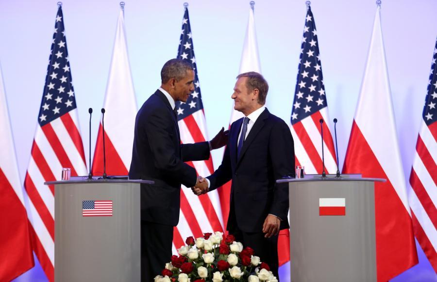 Barack Obama i Donald Tusk