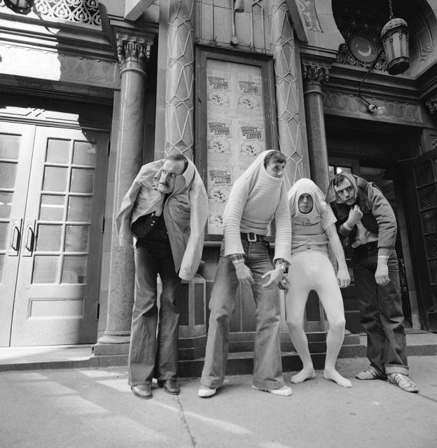 Latający cyrk Monty Pythona w roku 1976: John Cleese, Michael Palin, Terry Gilliam i Terry Jones