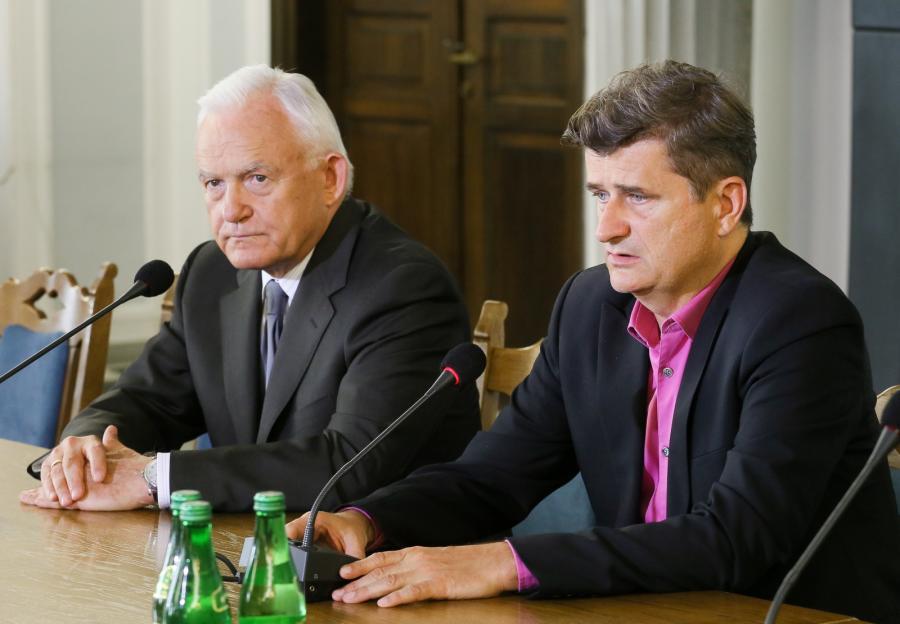 Leszek Miller i Janusz Palikot