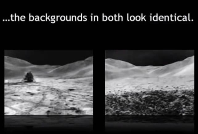 Krajobraz księżycowy i... identyczne tło