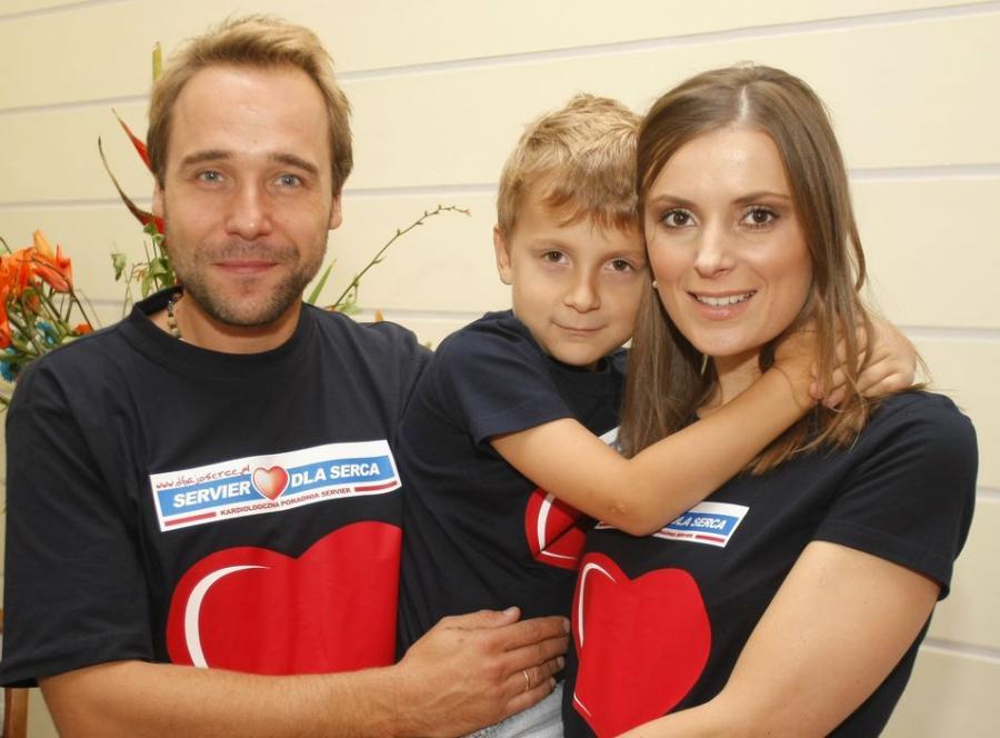 Łukasz Nowicki i Halina Mlynkova z synem