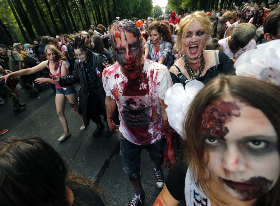 Zombie Walk w Petersburgu