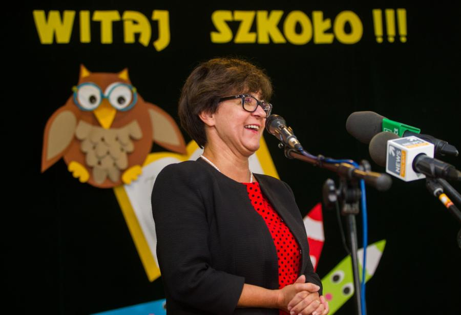 Szefowa MEN Joanna Kluzik-Rostkowska
