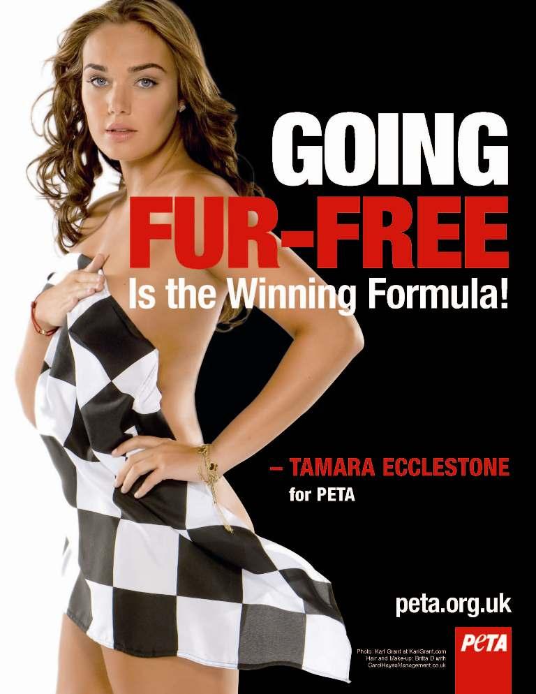 Ostatnio dla organizacji rozebrała się córka szefa F1 Berniego Ecclestone, Tamara