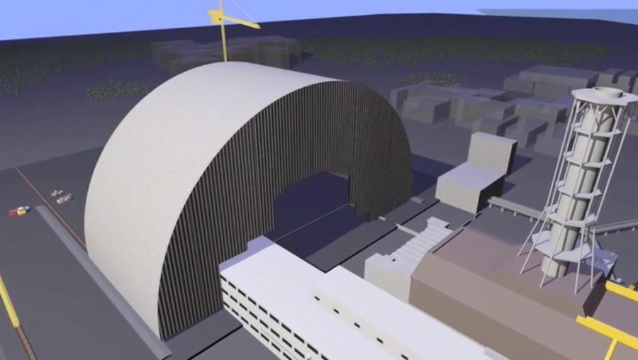 Tak ma wyglądać nowy sarkofag nad reaktorem niczynnej elektrowni atomowej w Czarnobylu