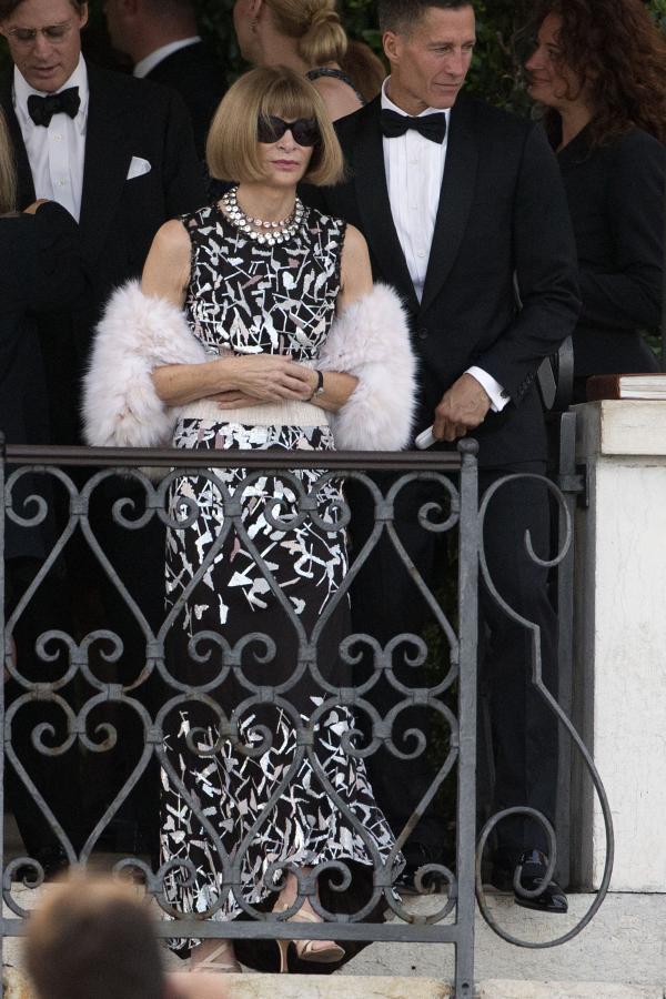 Anna Wintour na ślubie George'a Clooneya