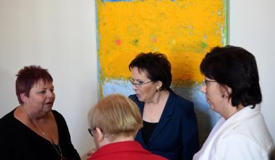 Premier Ewa Kopacz spotkała się z żonami górników z kopalni Kazimierz-Juliusz z Sosnowca