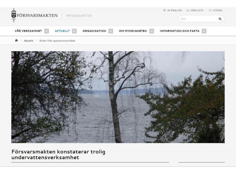 Tajemniczy okręt podwodny u wybrzeży Szwecji (fot. \