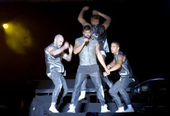 Ricky Martin podczas koncertu w Buenos Aires