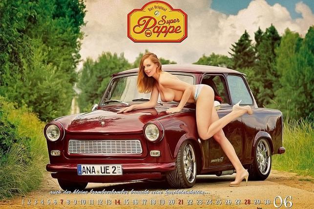 Trabant w kaledarzu Super Pappe 2015