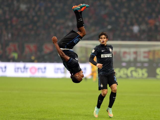 Tak się robi salto! W ten sposób Joel Obi cieszył się z gola strzelonego AC Milan
