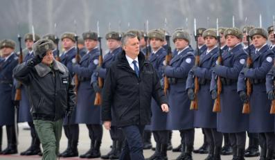 Pożegnanie żołnierzy udających się na misję Baltic Air Policing