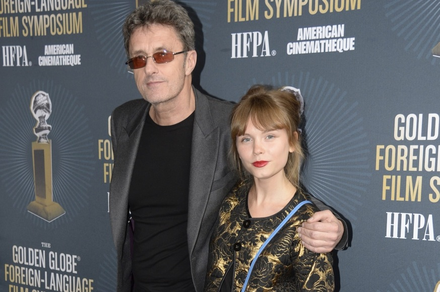 Agata Trzebuchowska i Paweł Pawlikowski na spotkaniu nominowanych do Złotych Globów