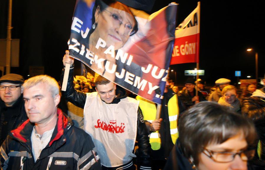 Demonstracja górników