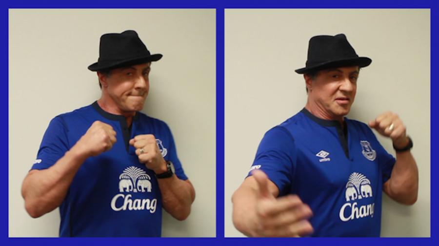 Sylvester Stallone szuka wsparcia kibiców Evertonu