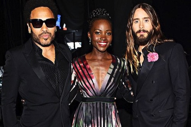 Lenny Kravitz, Lupita Nyong\'o i Jared Leto