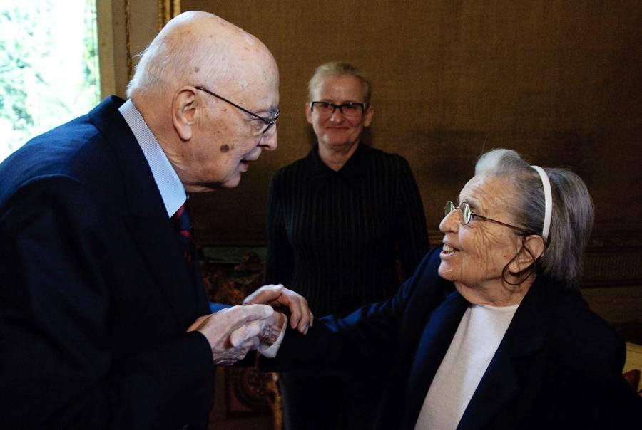 Lidia Croce i były prezydent Włoch Giorgio Napolitano