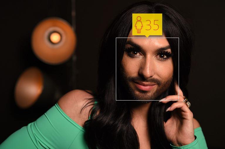 Conchita Wurst i jej wiek według How-Old.net