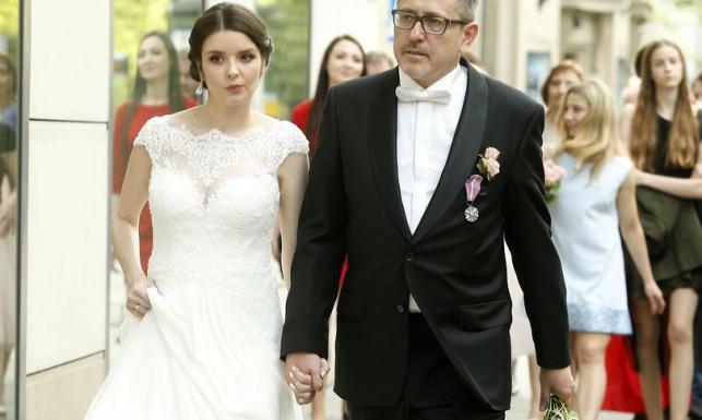 Elegancki Andrzej Sołtysik na swoim drugim ślubie