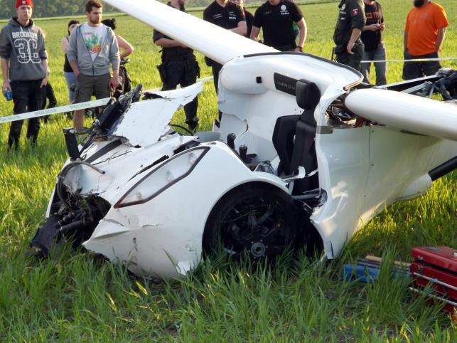 Aeromobil po wypadku