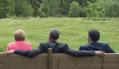 Angela Merkel, Barack Obama i Matteo Renzi