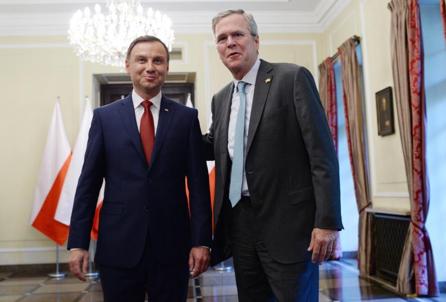Prezydent elekt Andrzej Duda i były gubernator Florydy Jeb Bush