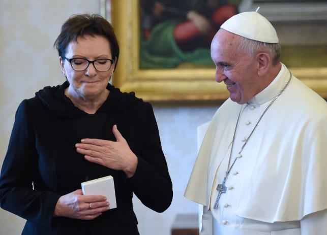 Papież Franciszek przyjął premier Ewę Kopacz w Watykanie