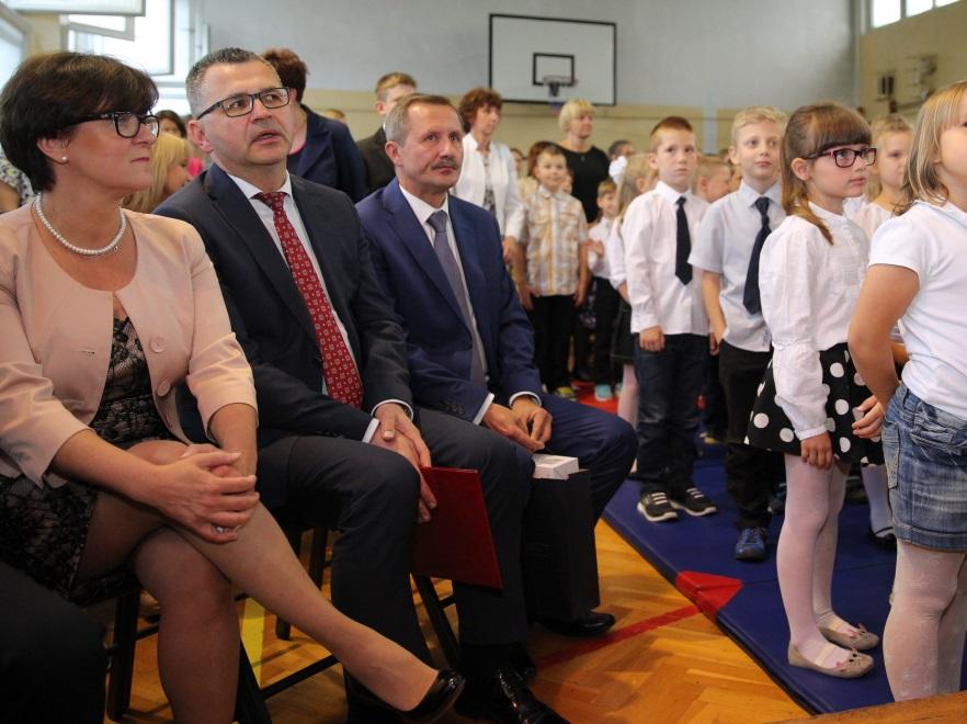 Joanna Kluzik-Rostkowska i Stanisław Faber - śląski kurator oświaty