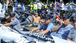 Protest służb mundurowych