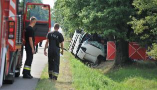 Wypadek ukraińskiego autokaru w Garwolinie
