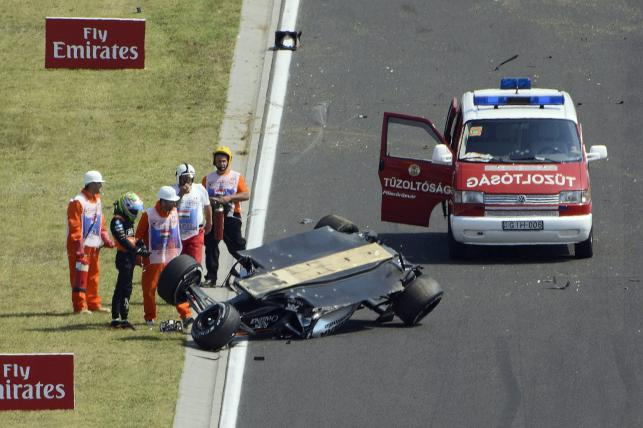 Sergio Perez dachował na treningu przed Grand Prix Węgier